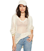 Free People - Shadow Stripe Mesh Hoodie