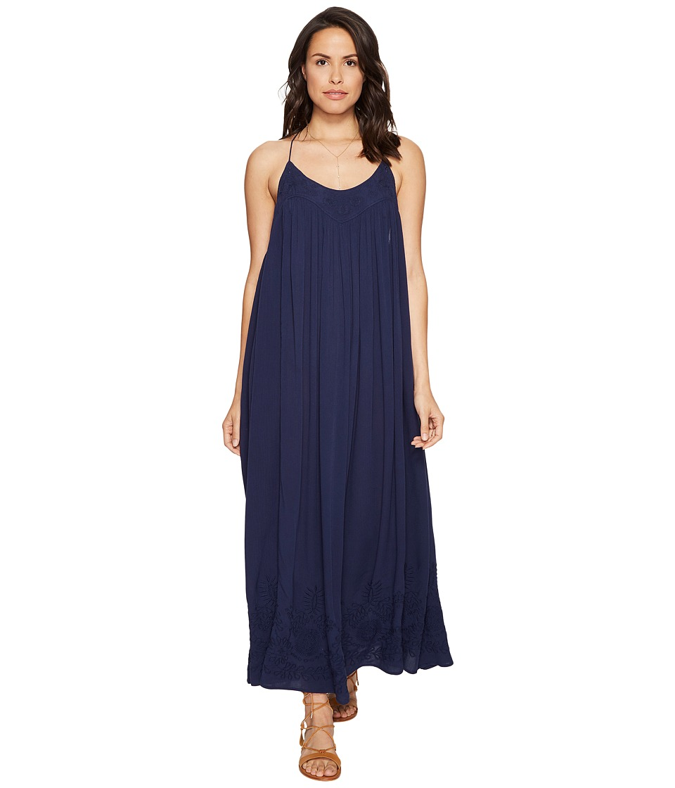 Free People Embroidered Elaine Maxi Slip (Navy) Women