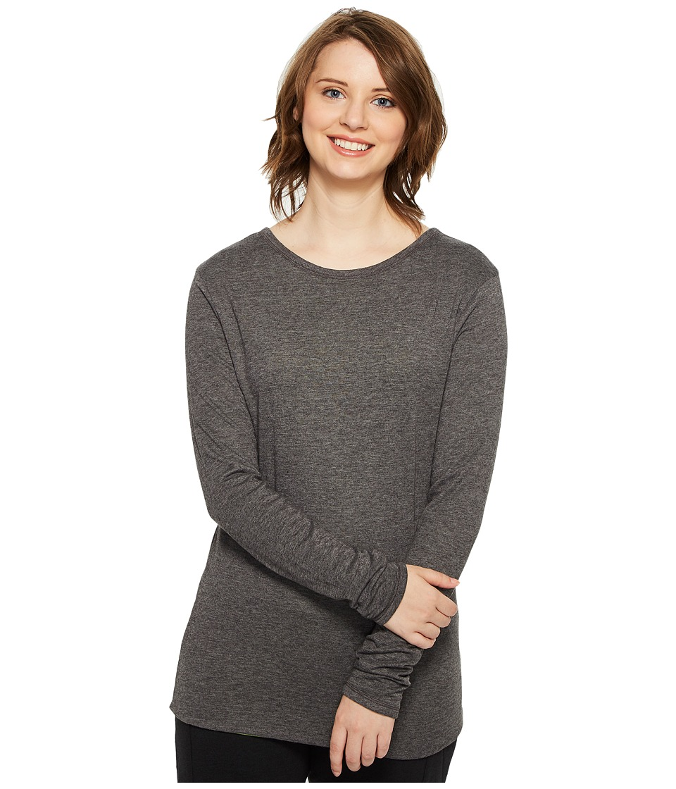 4Ward Clothing - Four-Way Reversible Scoop Long Sleeve Jersey Top (Charcoal/Greenery) Girls Clothing