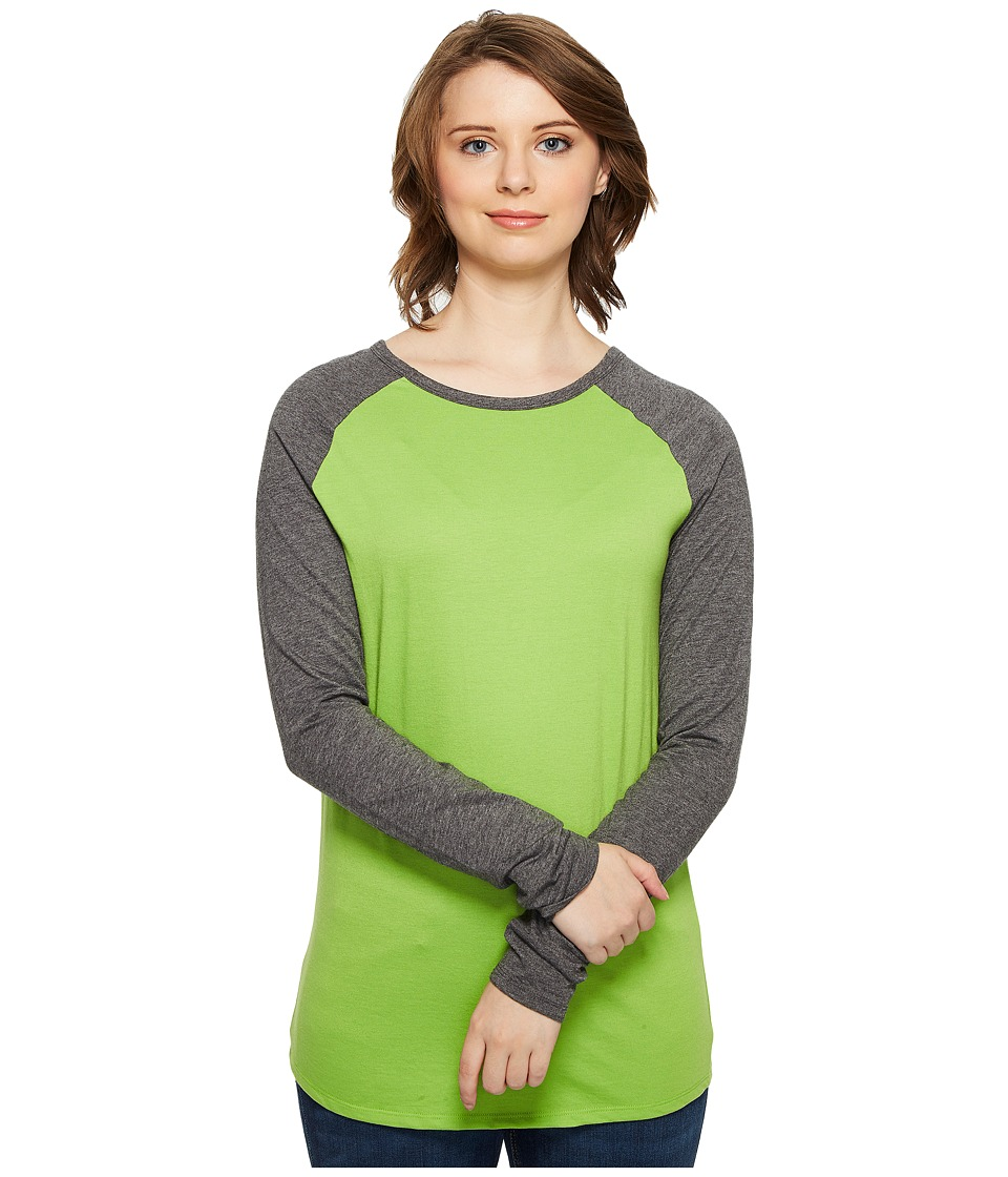 4Ward Clothing - Long Sleeve Raglan Shirt - Reversible Front/Back (Charcoal/Greenery) Girls Clothing