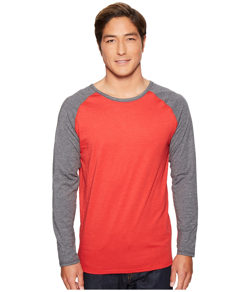 4Ward Clothing - Long Sleeve Raglan Shirt - Reversible Front/Back (Charcoal/Red) Boys Clothing