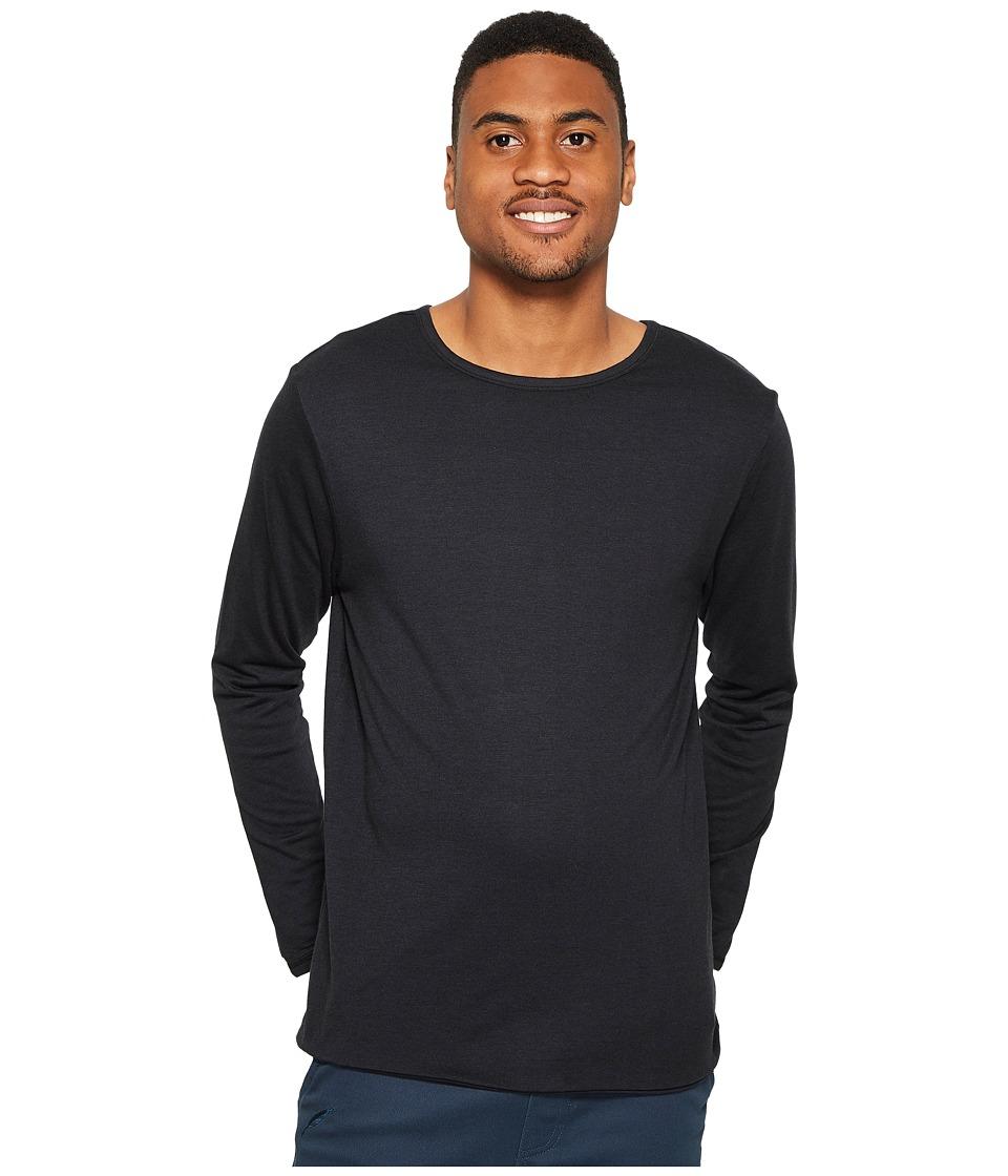 4Ward Clothing Four-Way Reversible Long Sleeve Jersey Tee (Black/Black) Boy