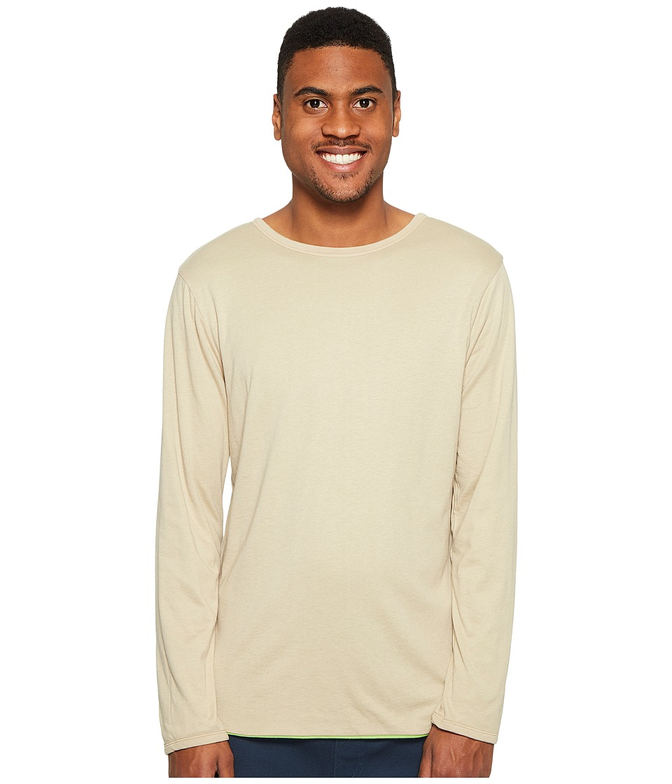 4Ward Clothing Four-Way Reversible Long Sleeve Jersey Tee (Oatmeal/Greenery) Boy