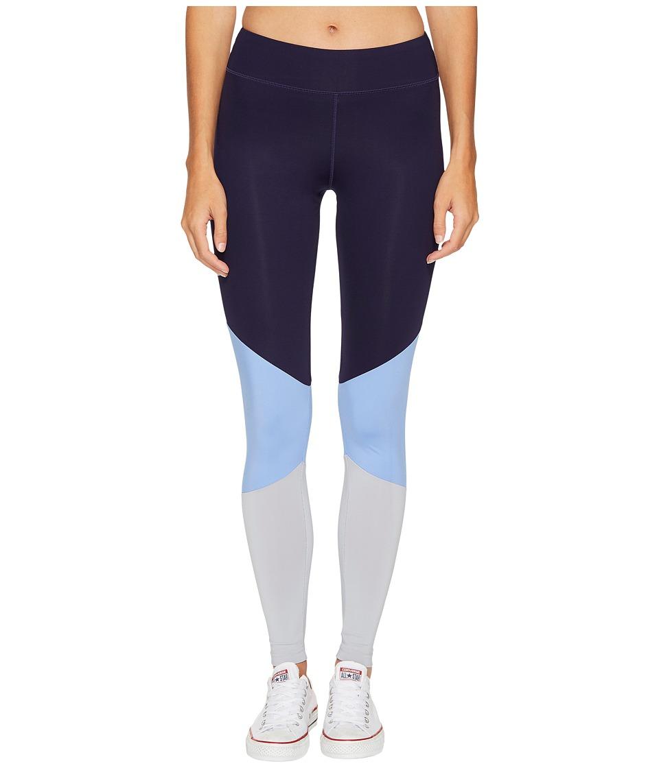 Converse New Color Blocked Leggings (Pioneer Blue Multi) Women