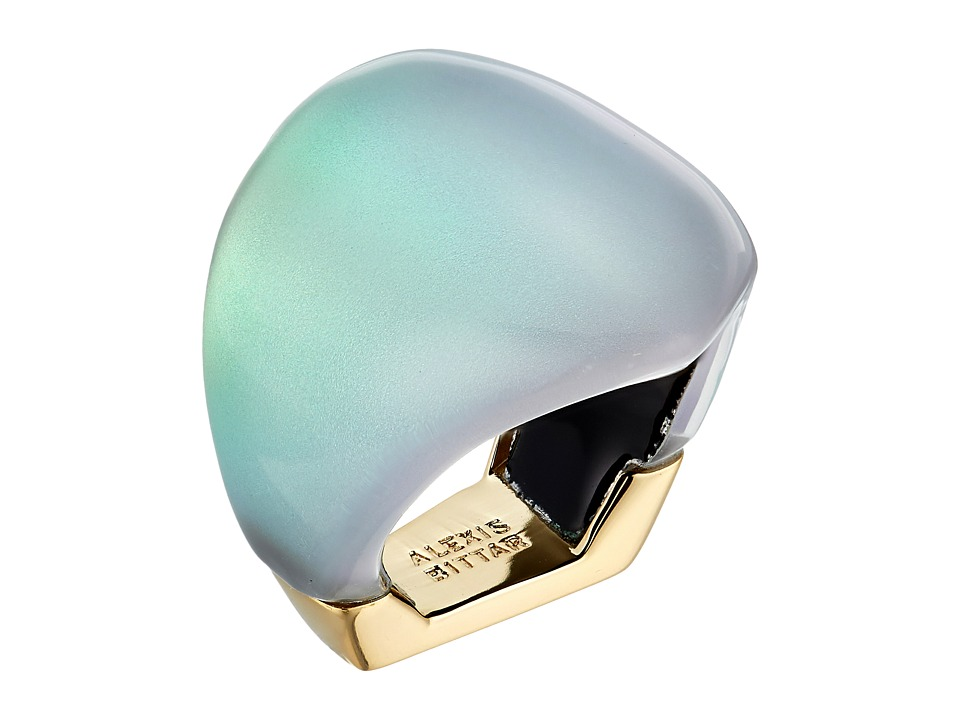 Alexis Bittar - Asymmetrical Block Ring (Clear Green Opalescent) Ring