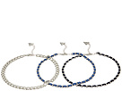 GUESS - 3 Row Choker Necklace Set with Woven Chain