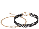 GUESS Figure 8 Choker and Pave Circle Necklace Set