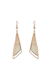 GUESS - Triangular Drop Earrings with Faux Python