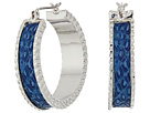 GUESS - Medium Hoop Earrings with Faux Python Inlay