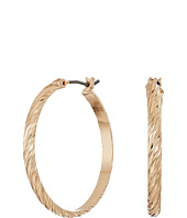 GUESS - Medium Textured Hoop Earrings