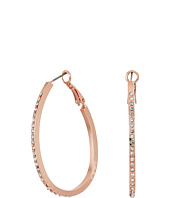 GUESS - Oval Pave Hoop Earrings