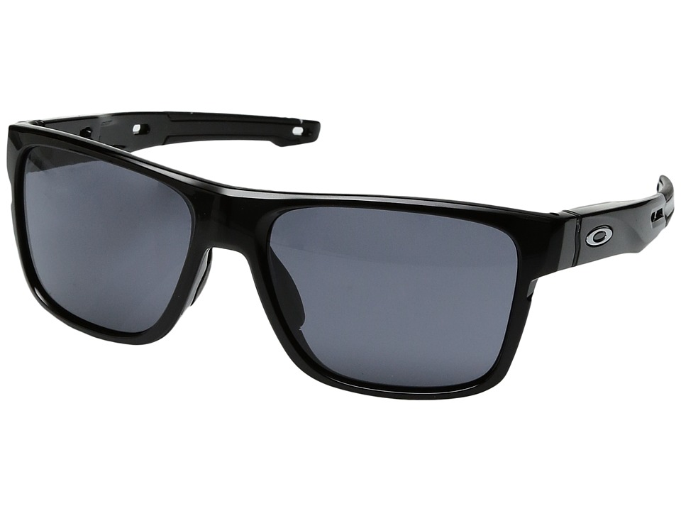Oakley - Crossrange (Polished Black w/ Grey) Fashion Sunglasses