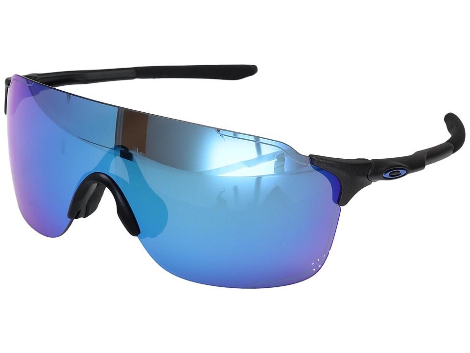 Oakley Evzero Stride (Steel w/ Sapphire Iridium) Fashion Sunglasses