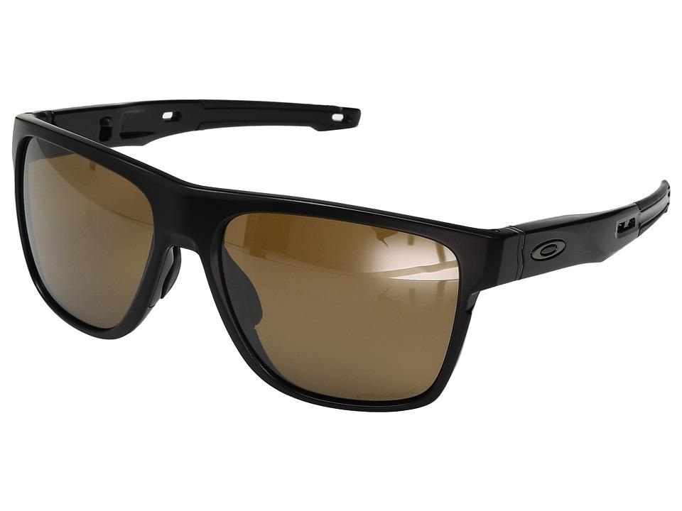Oakley Crossrange XL (Matte Black w/ Prizm Tungsten Polarized) Fashion Sunglasses