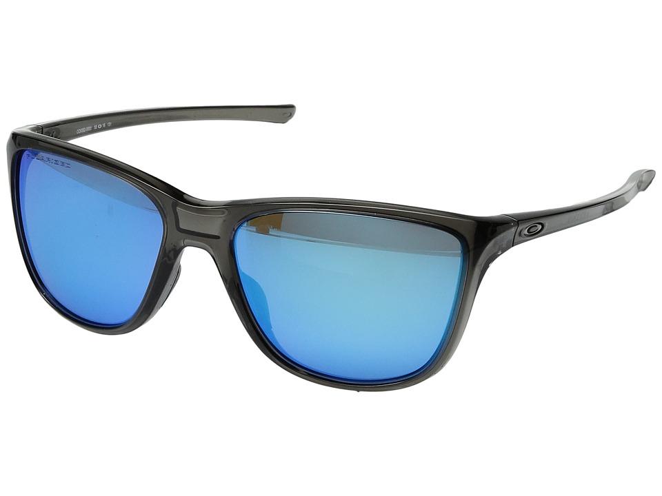 Oakley Reverie (Grey Smoke w/ Sapphire Iridium Polarized) Fashion Sunglasses