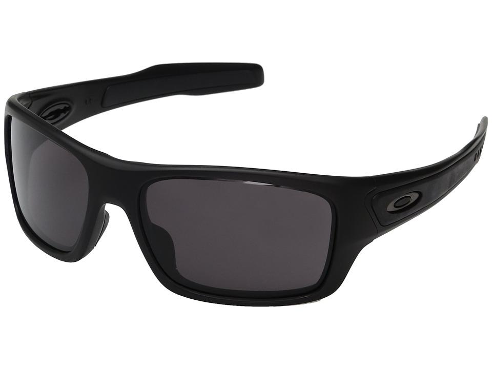 Oakley Turbine XS (Matte Black w/ Warm Grey) Fashion Sunglasses