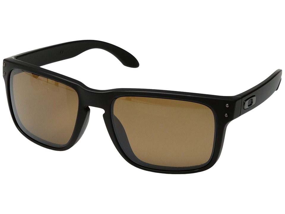 Oakley Holbrook (Matte Black w/ Prizm Tungsten Polarized) Sport Sunglasses