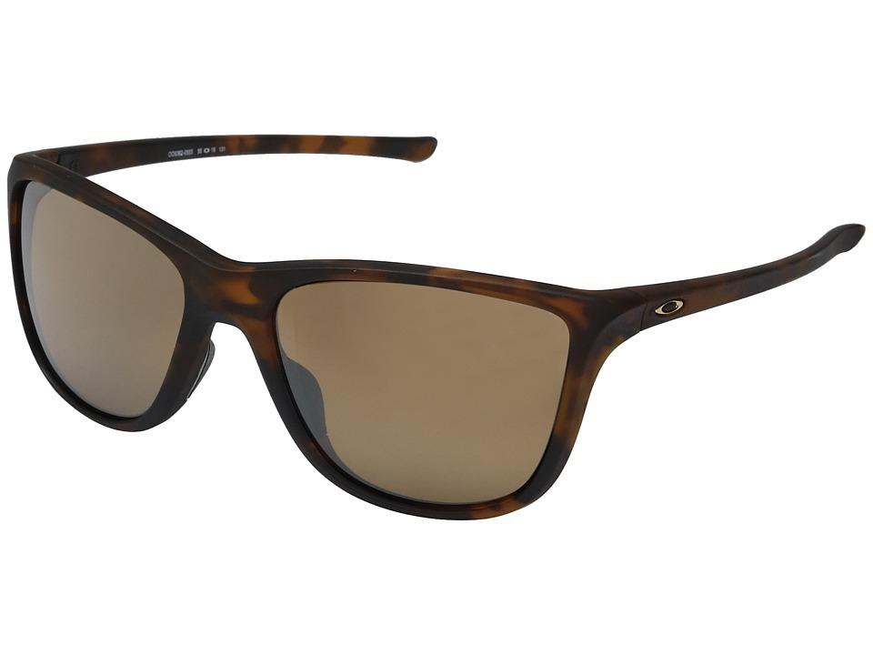 Oakley Reverie (Matte Brown Tortoise w/ Tungsten Iridium Polarized) Fashion Sunglasses