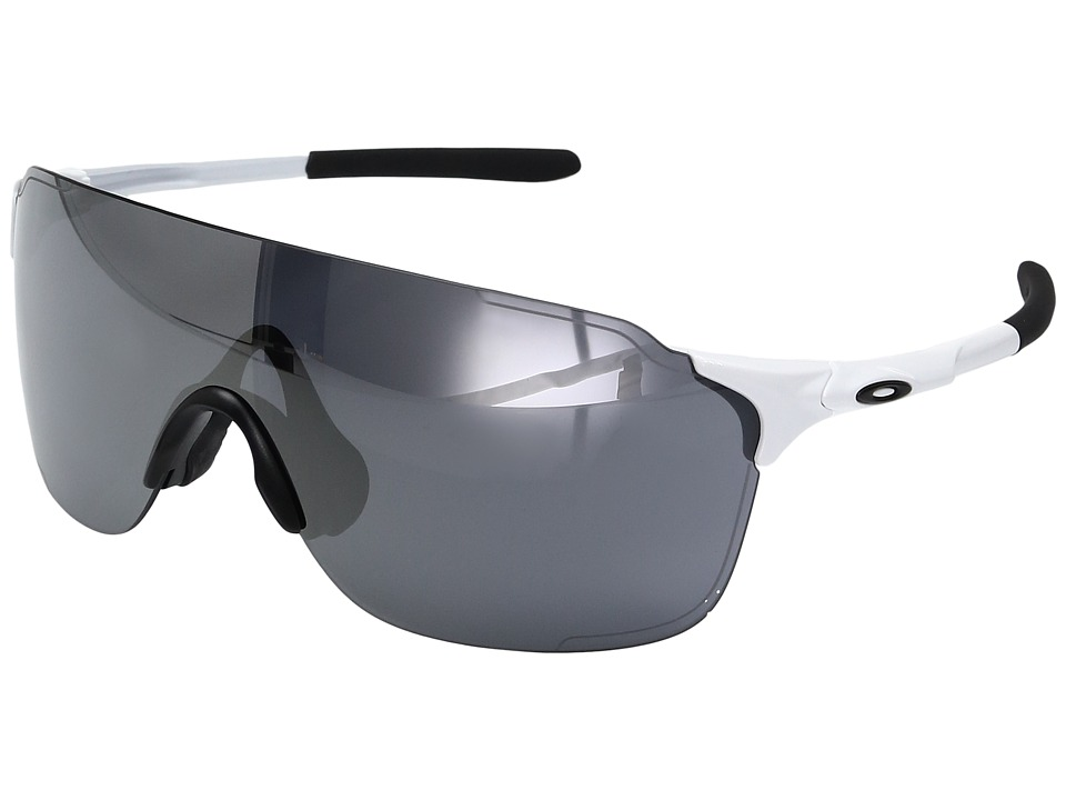 Oakley Evzero Stride (Polished White w/ Black Iridium) Fa...