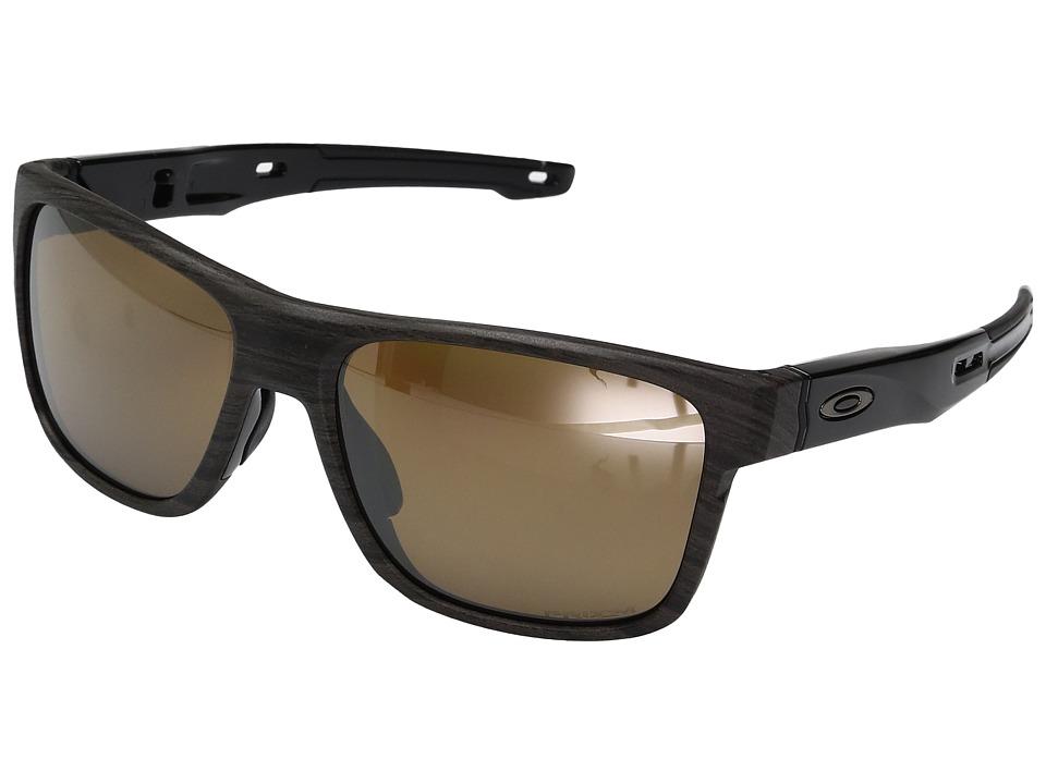 Oakley Crossrange (Woodgrain w/ Prizm Tungsten Polarized) Fashion Sunglasses