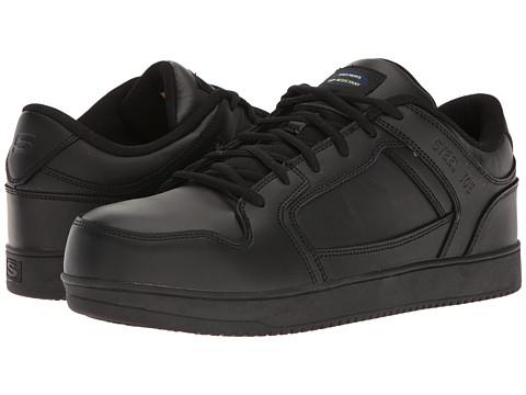 SKECHERS Work Ossun - Evartis - Black Leather