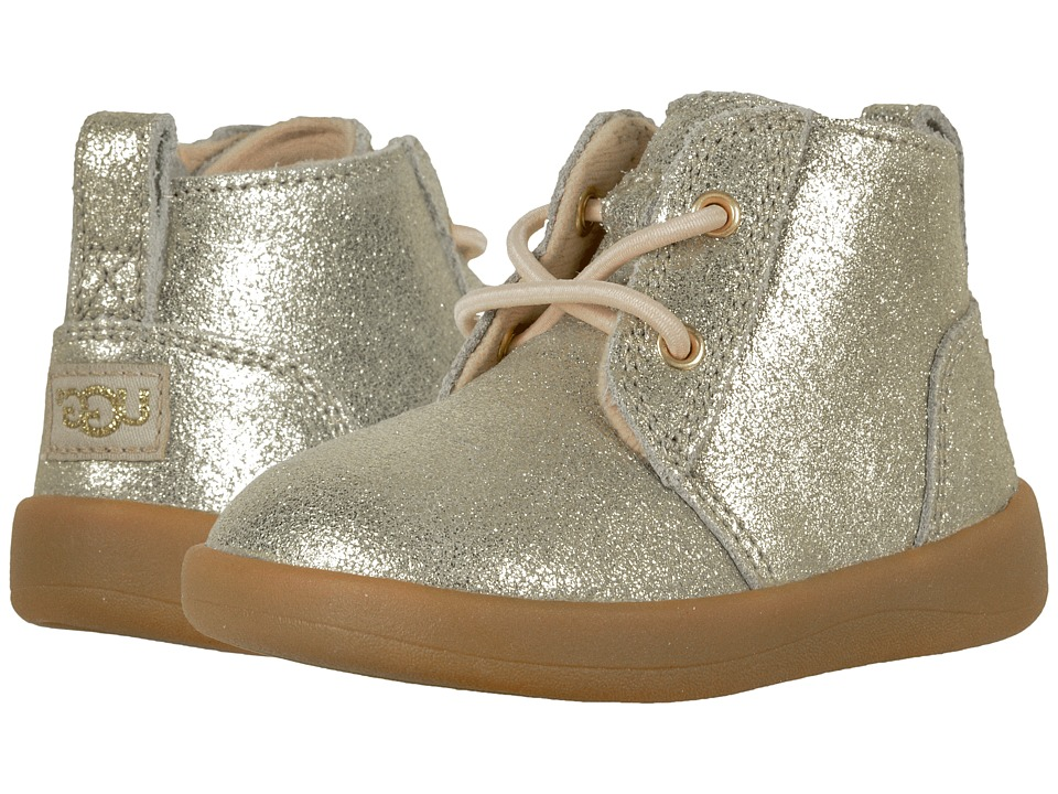 UGG Kids Kristjan Metallic (Infant/Toddler) (Gold) Girl's Shoes