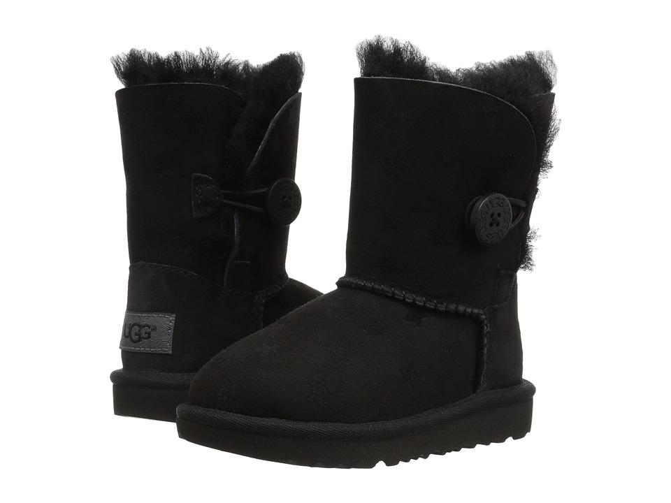 UGG Kids Bailey Button II Stars (Toddler/Little Kid) (Black) Girls Shoes