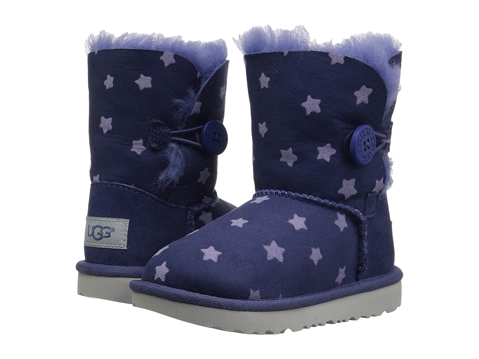 UGG Kids Bailey Button II Stars (Toddler/Little Kid) (Nocturn) Girls Shoes