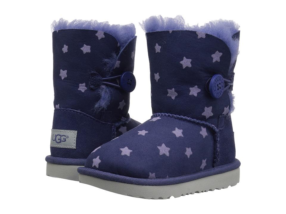 UGG Kids Bailey Button II Stars (Toddler/Little Kid) (Nocturn) Girls Shoes