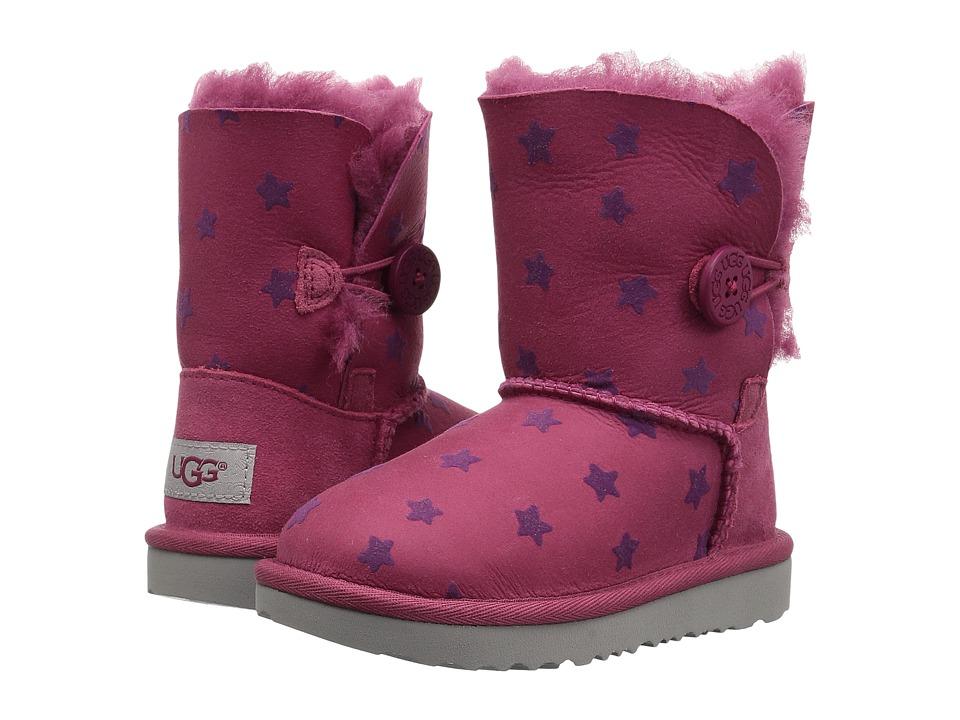 UGG Kids Bailey Button II Stars (Toddler/Little Kid) (Brambleberry) Girls Shoes