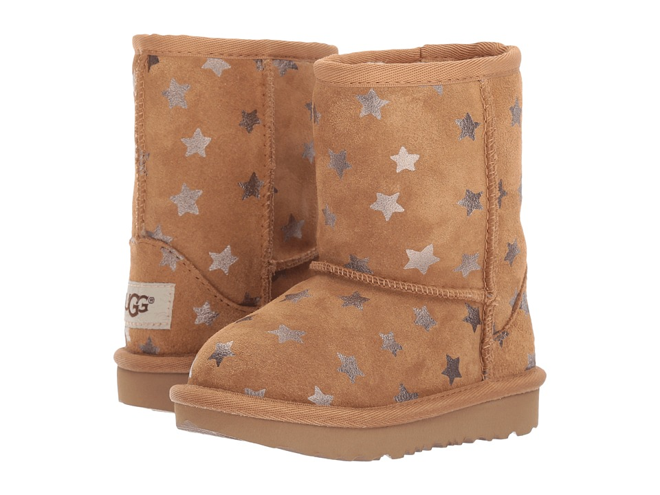 UGG Kids Classic Short II Stars (Toddler/Little Kid) (Chestnut) Girls Shoes