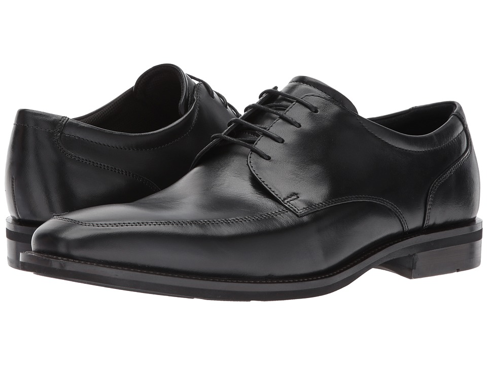 Ecco Faro Apron Toe Tie (Black) Men's Lace Up Wing Tip Shoes
