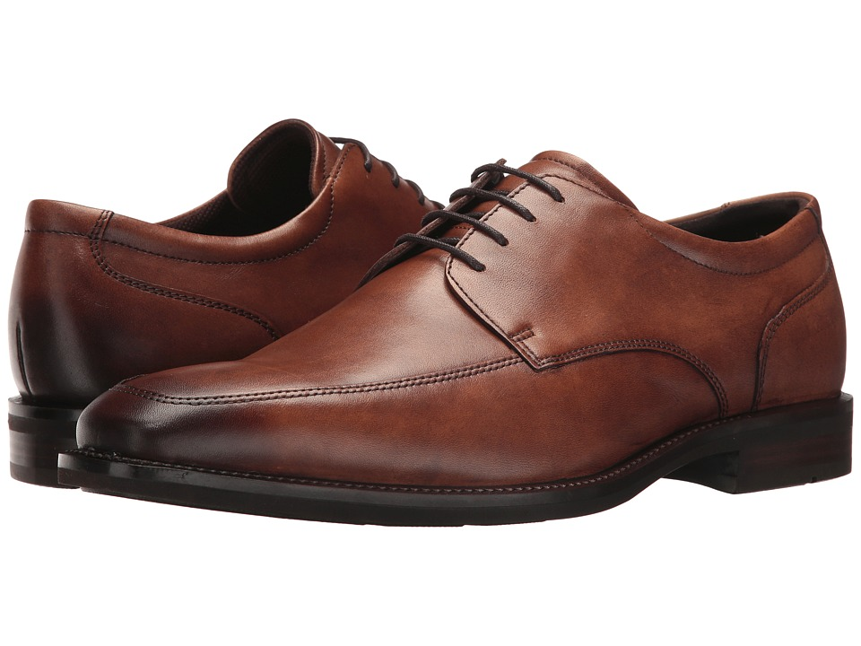 Ecco Faro Apron Toe Tie (Amber) Men's Lace Up Wing Tip Shoes