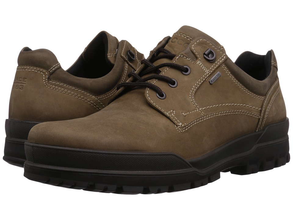 ECCO - Track 6 GTX Plain Toe Tie (Navajo Brown/Stone) Mens Lace up casual Shoes