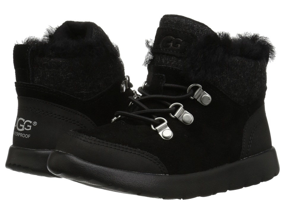 UGG Kids Obie Waterproof (Toddler/Little Kid) (Black) Kid's Shoes