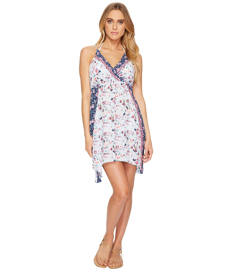 Lucky Brand Gypsy Floral Faux Wrap Swing Dress Cover-Up (Multi) Women