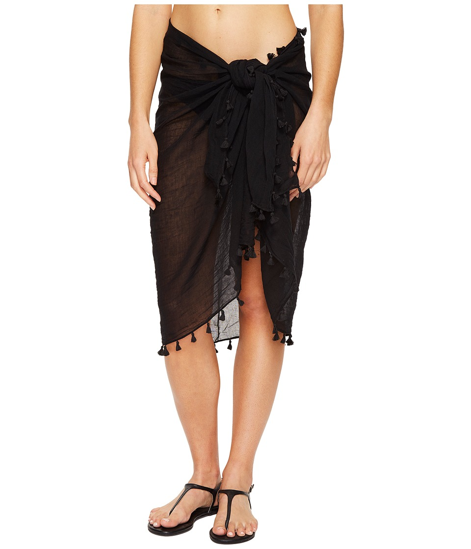 Seafolly Cotton Gauze Sarong (Black) Women