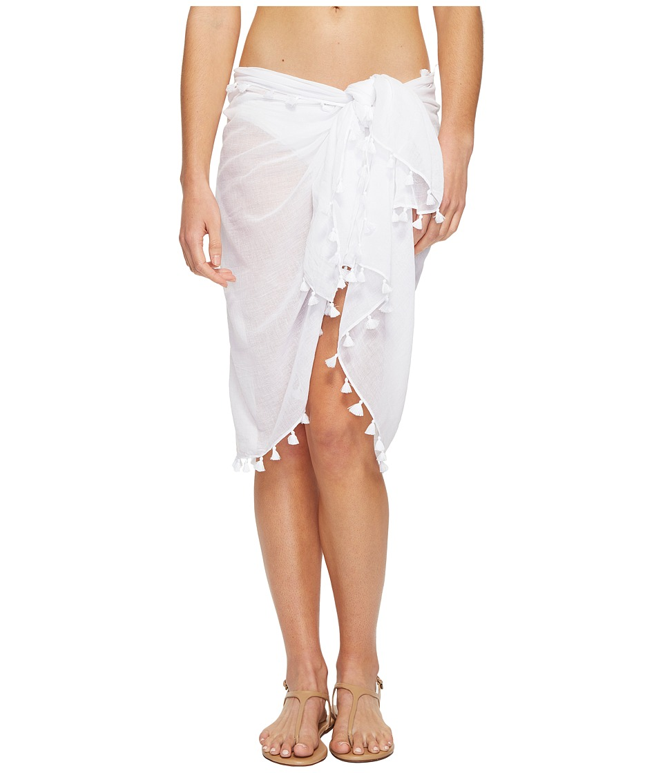 Seafolly Cotton Gauze Sarong (White) Women