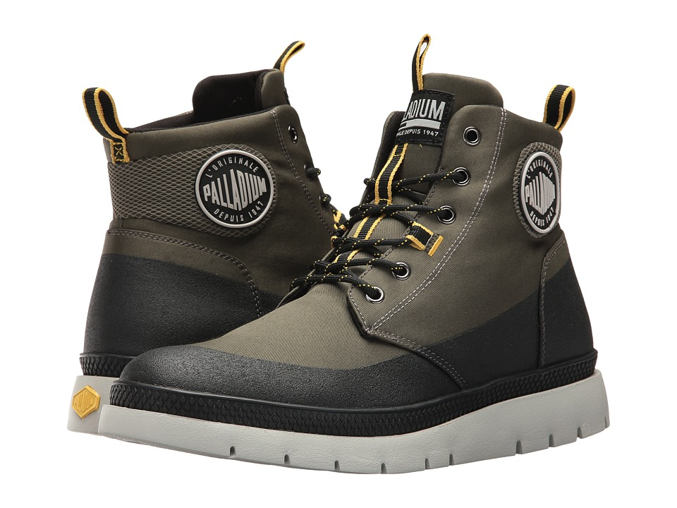 Palladium Pallasider Coated Mid (Army Green/Black) Men