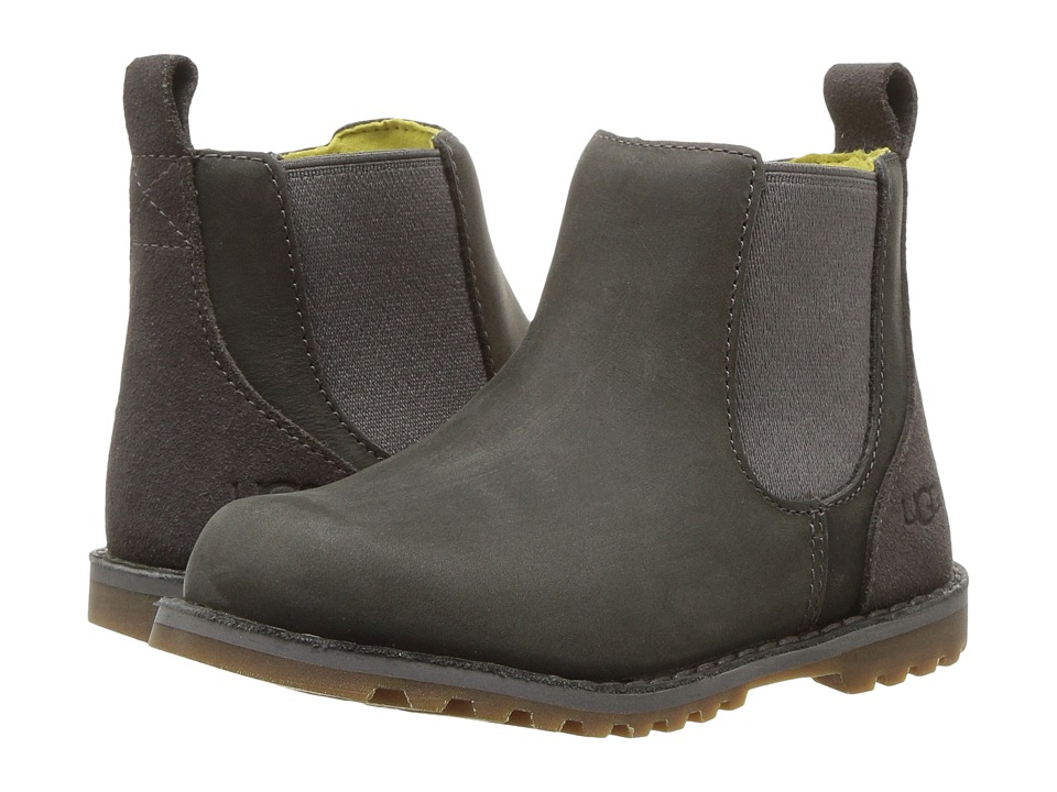 UGG Kids Callum (Toddler/Little Kid) (Charcoal) Kid's Shoes