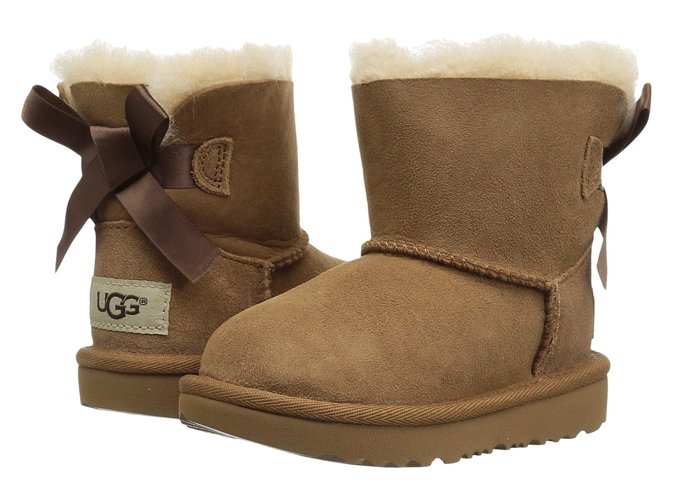 UGG Kids Mini Bailey Bow II (Toddler/Little Kid) (Chestnut) Girls Shoes