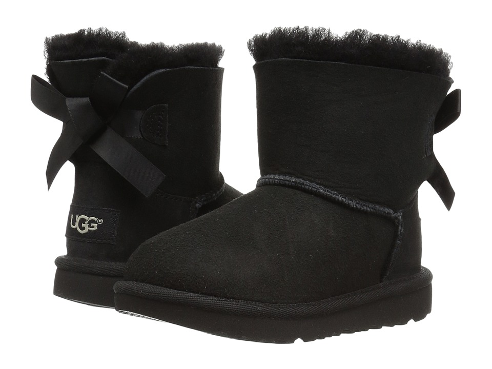 UGG Kids Mini Bailey Bow II (Toddler/Little Kid) (Black) Girls Shoes