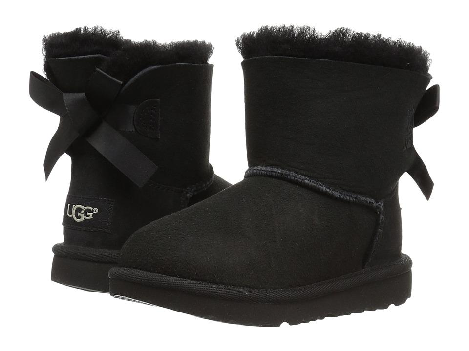 UGG Kids Mini Bailey Bow II (Toddler/Little Kid) (Black) Girls Shoes