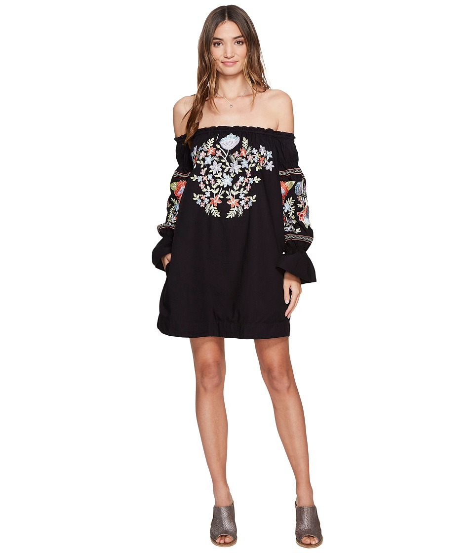 Free People Fleur Du Jour Mini Dress (Black) Women