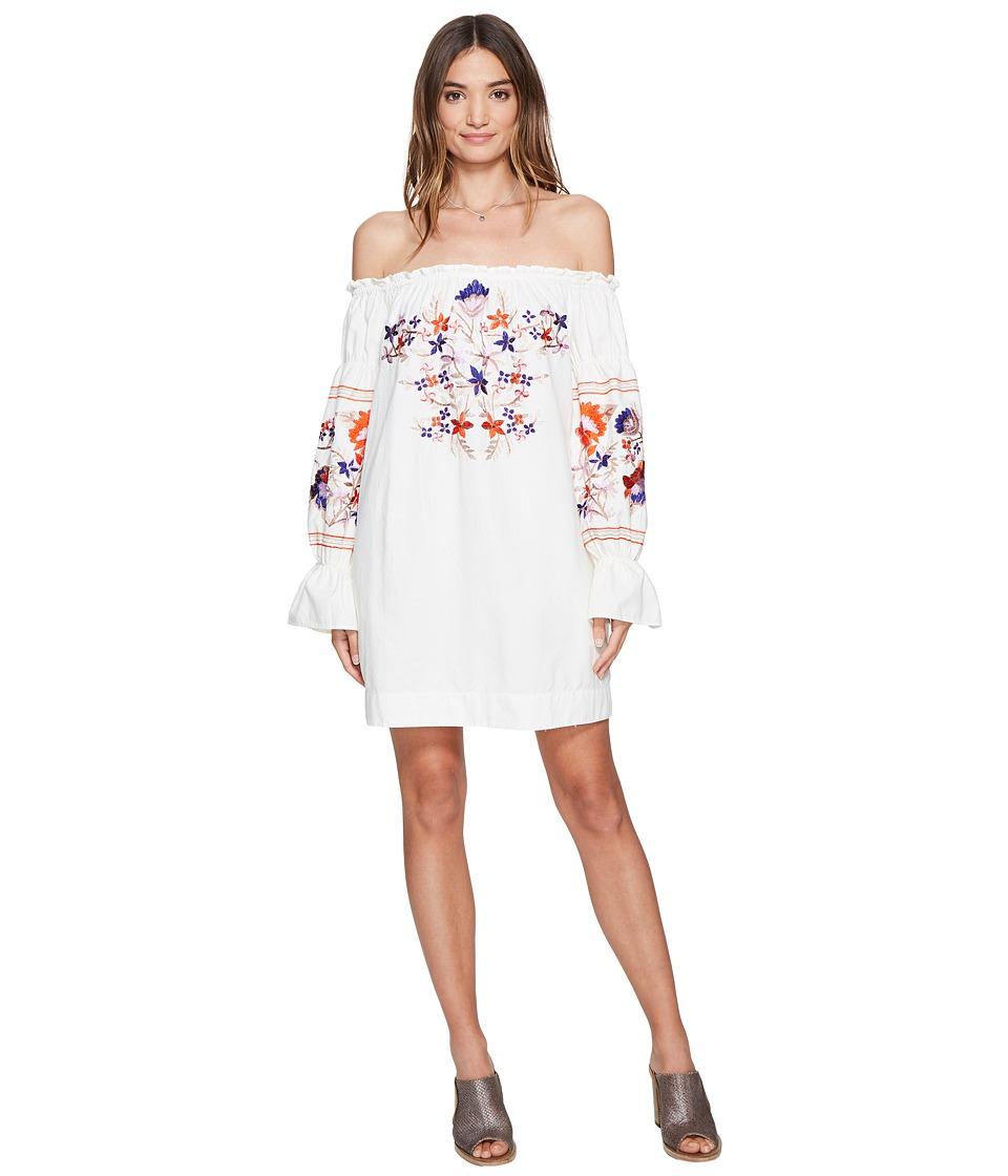Free People Fleur Du Jour Mini Dress (Ivory) Women