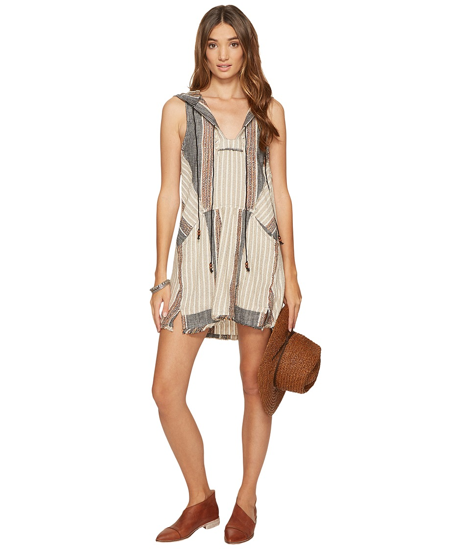 Free People All Right Now Mini Dress (Black Combo) Women