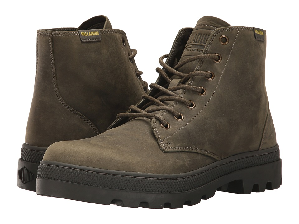 Palladium Pallabosse Mid (Olive Night/Beluga) Men