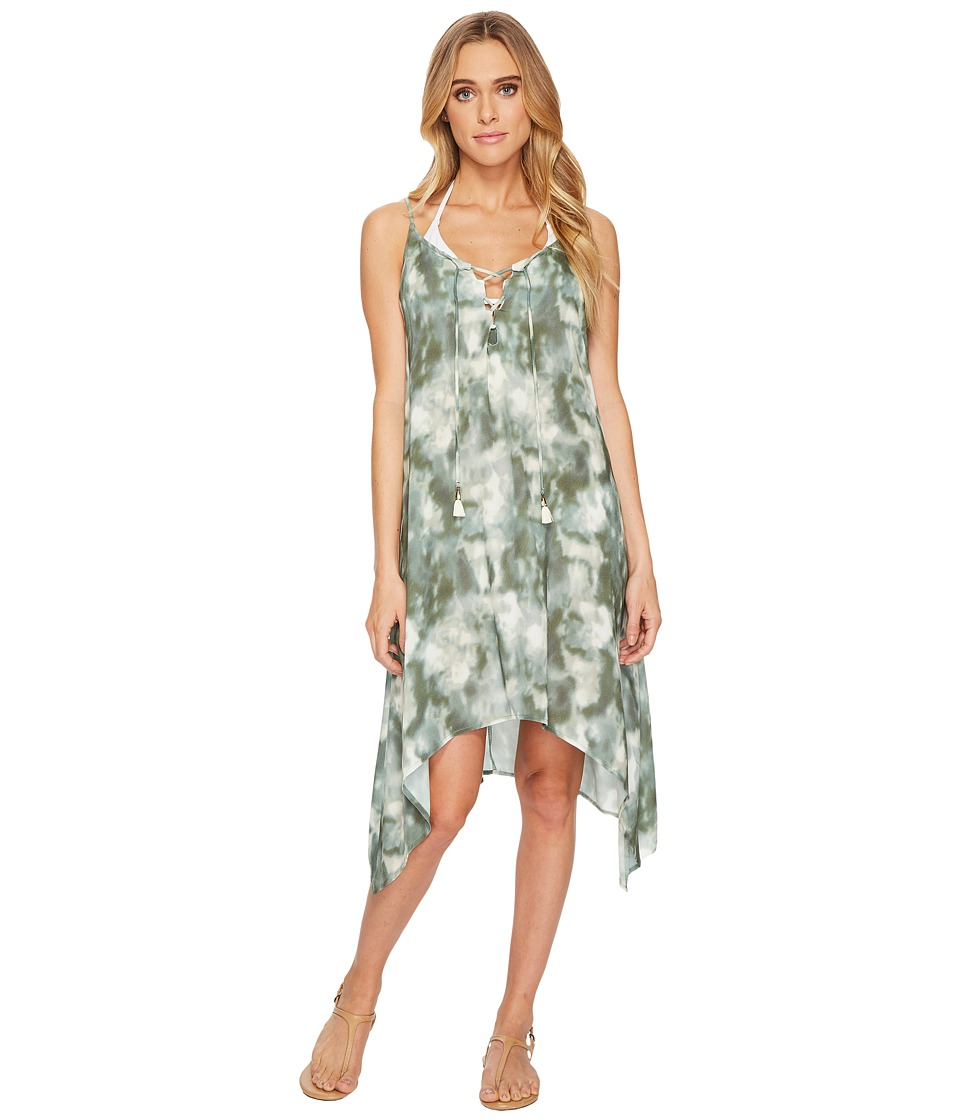 Lucky Brand Indian Summer Lace-Up Swing Dress Cover-Up (O...