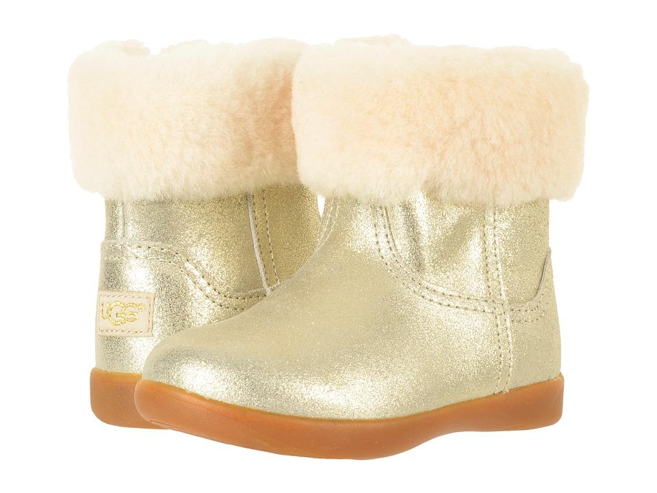 UGG Kids Jorie II Metallic (Toddler/Little Kid) (Gold) Girls Shoes
