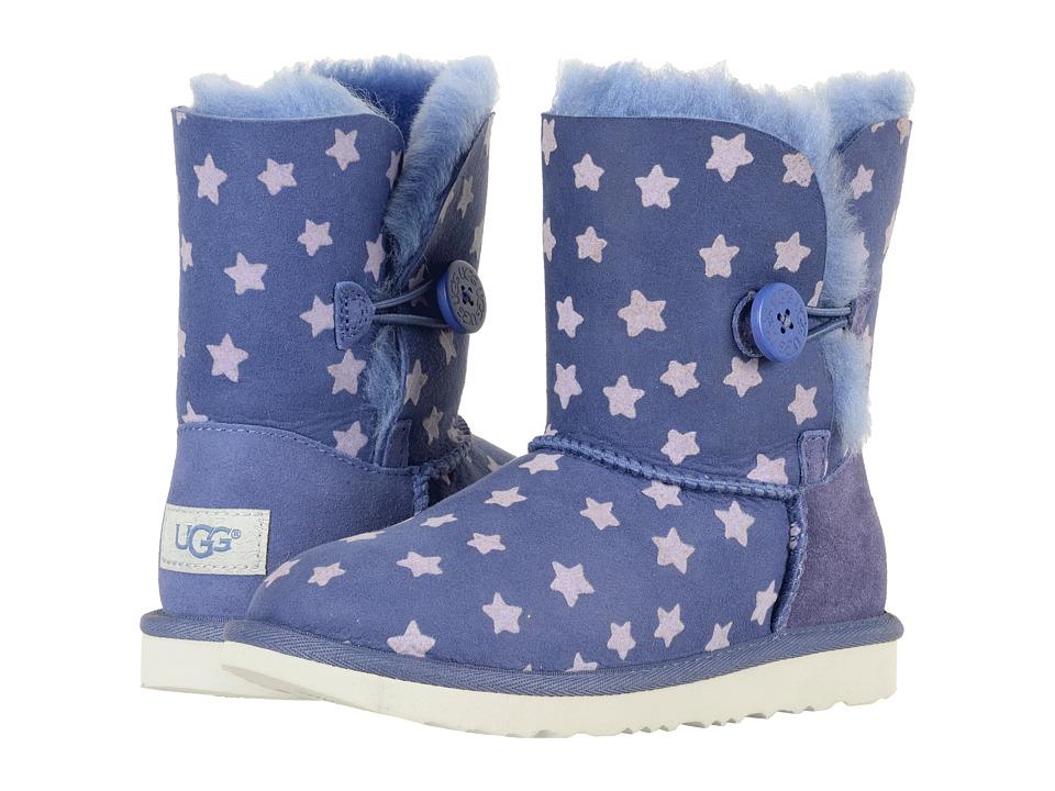 UGG Kids Bailey Button II Stars (Little Kid/Big Kid) (Nocturn) Girls Shoes